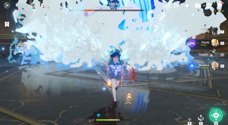 Genshin Impact Childe Boss Fight 2b