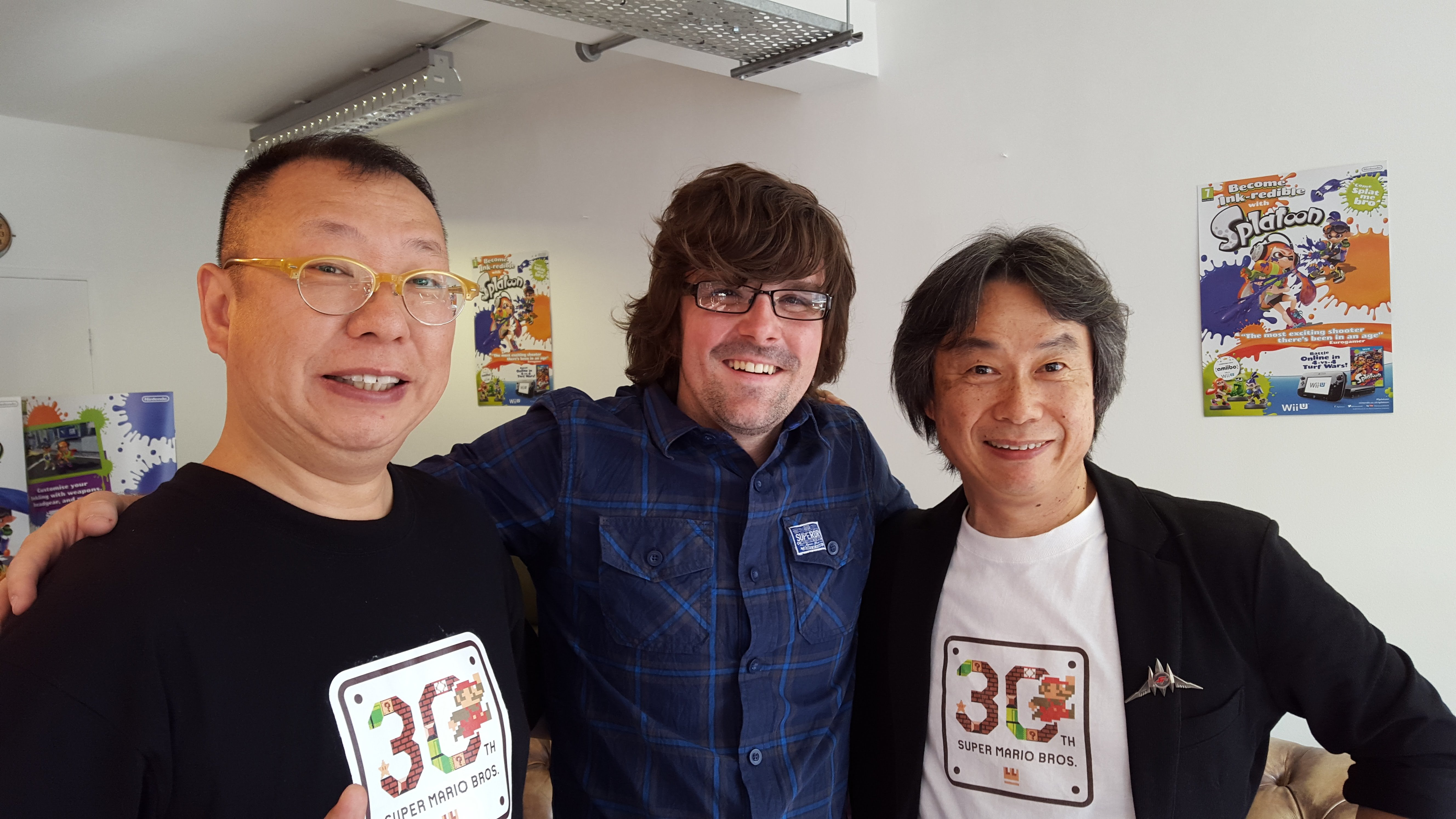 Back in 2015, this very writer and Nintendo Life editor Damien McFerran were lucky enough to meet Miyamoto and Takashi Tezuka in rainy old London. We haven't stopped bragging about it since.