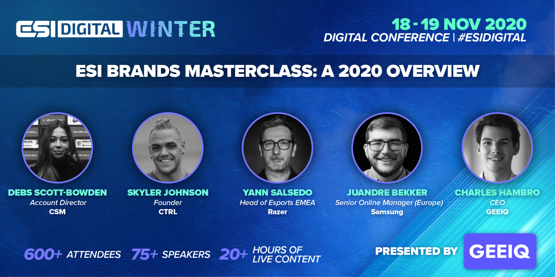 ESI Digital Winter 2020 Overview, presented by Geeiq