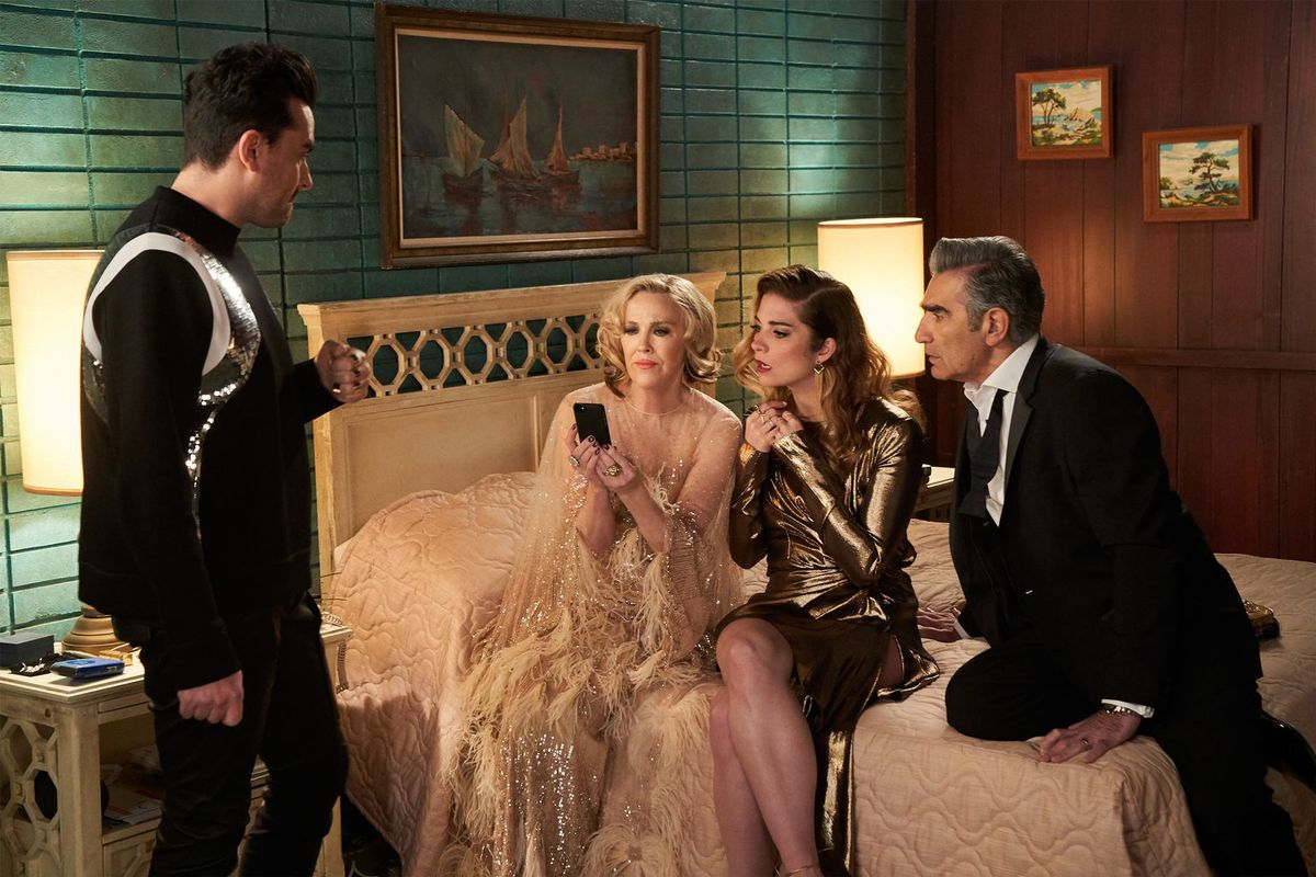 The main characters of Schitt's Creek