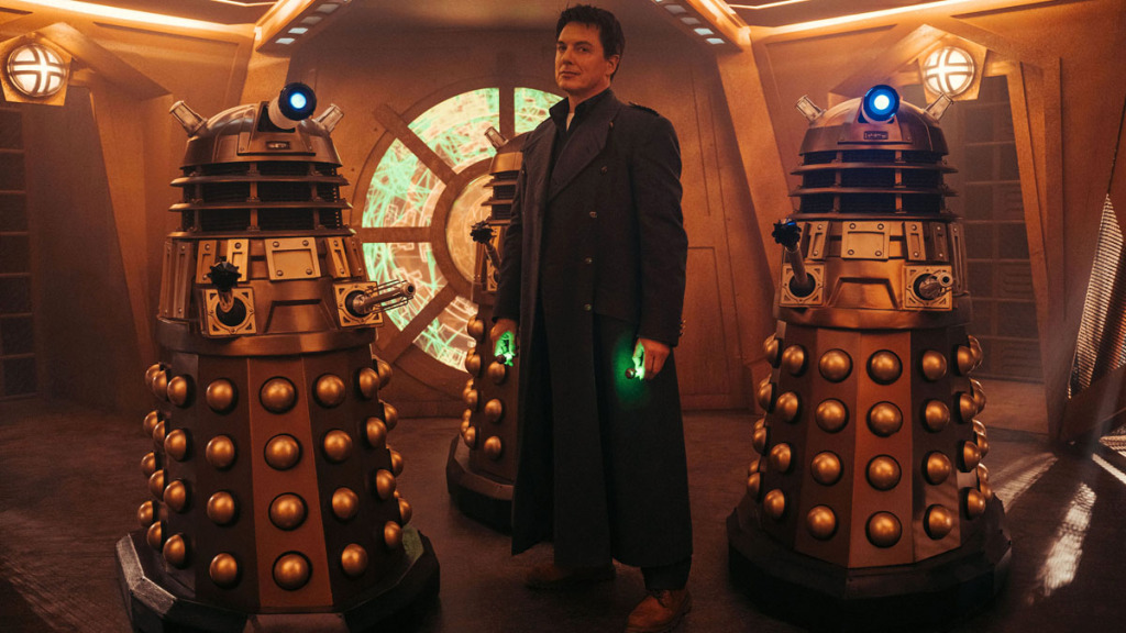 Captain Jack Harkness (John Barrowman) returns.