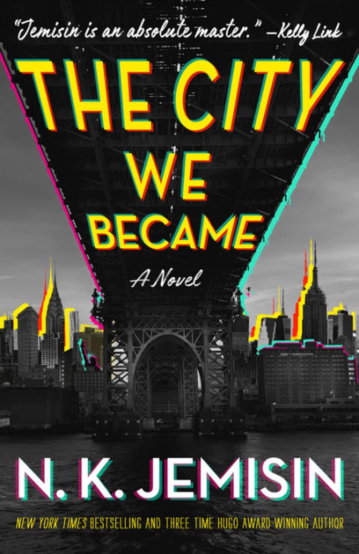 a glowing city on the cover of The City We Became by N.K. Jemisin