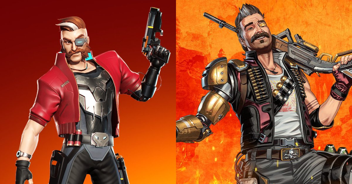 On the left, BulletVille's Hunter; on the right, Apex Legends' Fuse