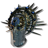 Font of Thunder Mirrored Spiked Shield