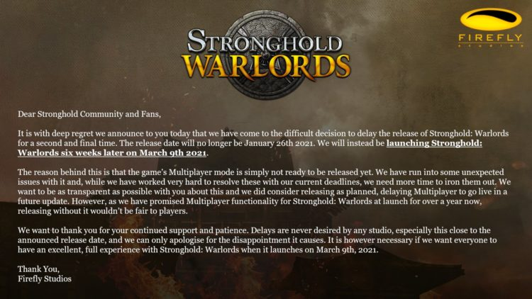 Stronghold Warlords March Delay