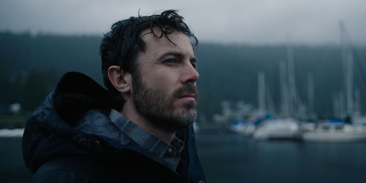 Casey Affleck as Phillip, staring off into the distance in Every Breath You Take