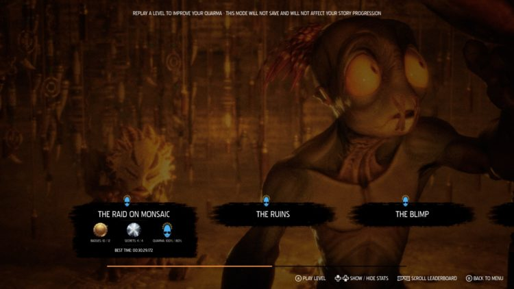 Oddworld Soulstorm Endings Guide Quarma Mudokon Rescue Save Level Select 1