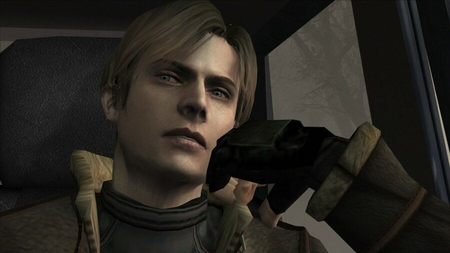 Leon pictured here thinking about the fort he's going to build with all his grenades