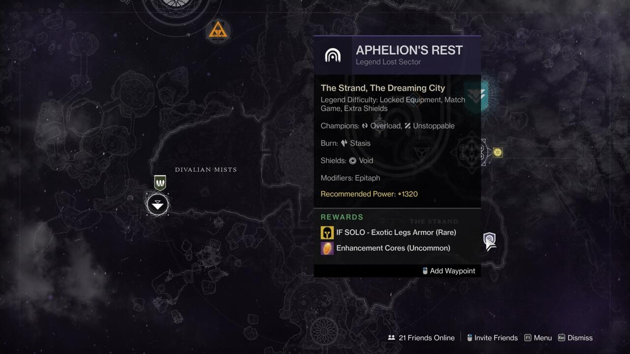 Check Legendary and Master Lost Sectors to see what they drop before you take them on.