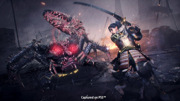 A crab-like demon in The Nioh Collection.