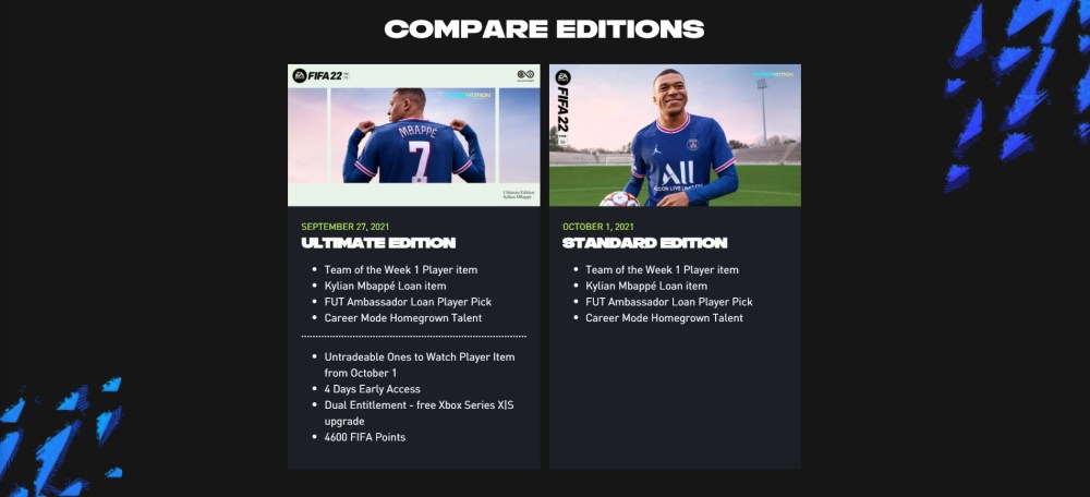 fifa 22 editions explained, fifa 22 pre-order guide