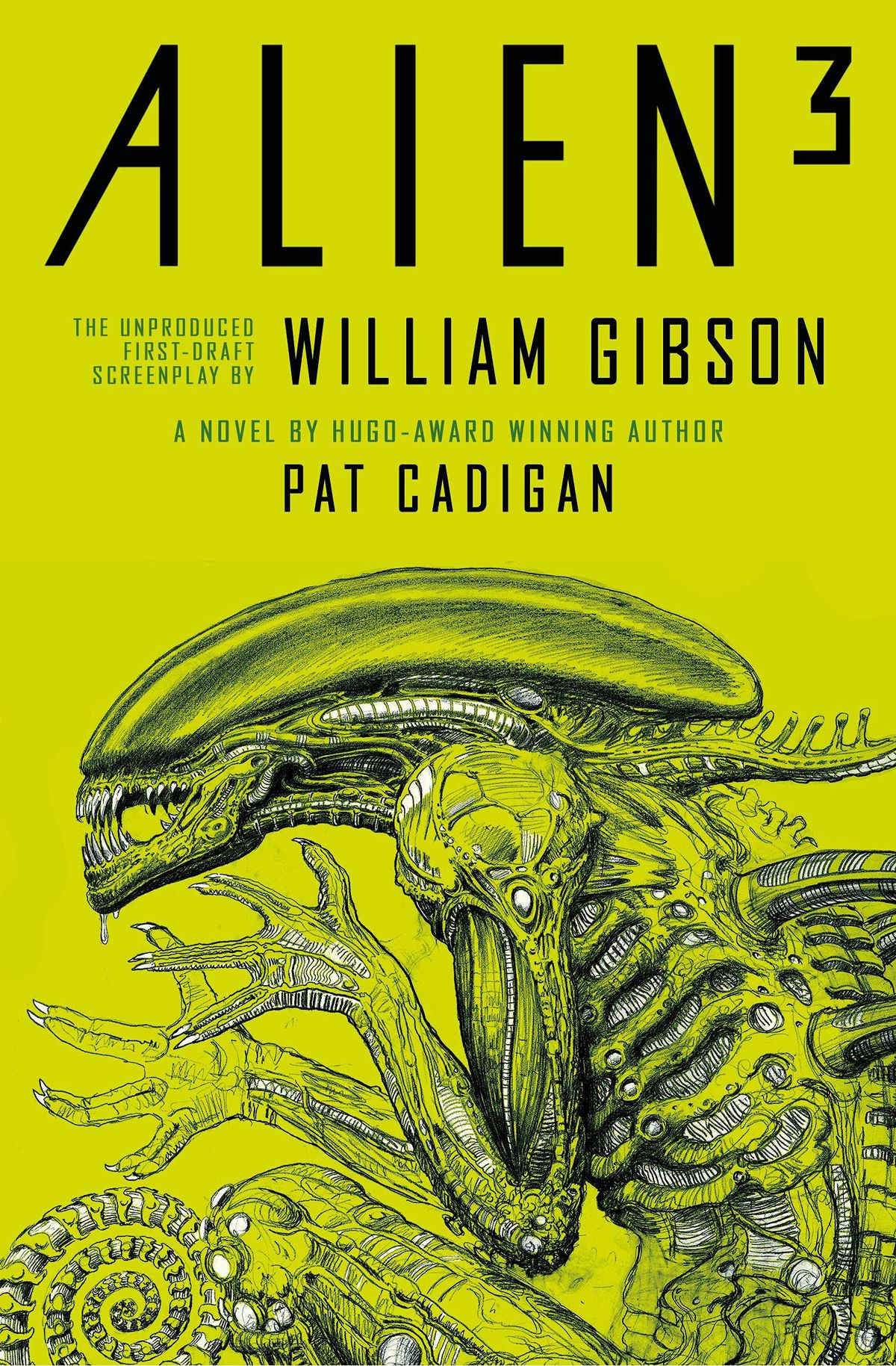 Alien³: The Unproduced First-Draft Screenplay book cover featuring a curled up xenomorph