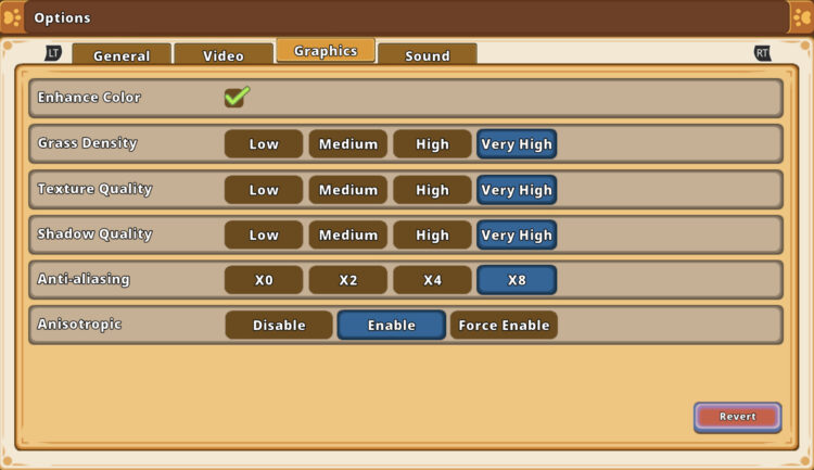 Kitaria Fables Review Graphics Settings