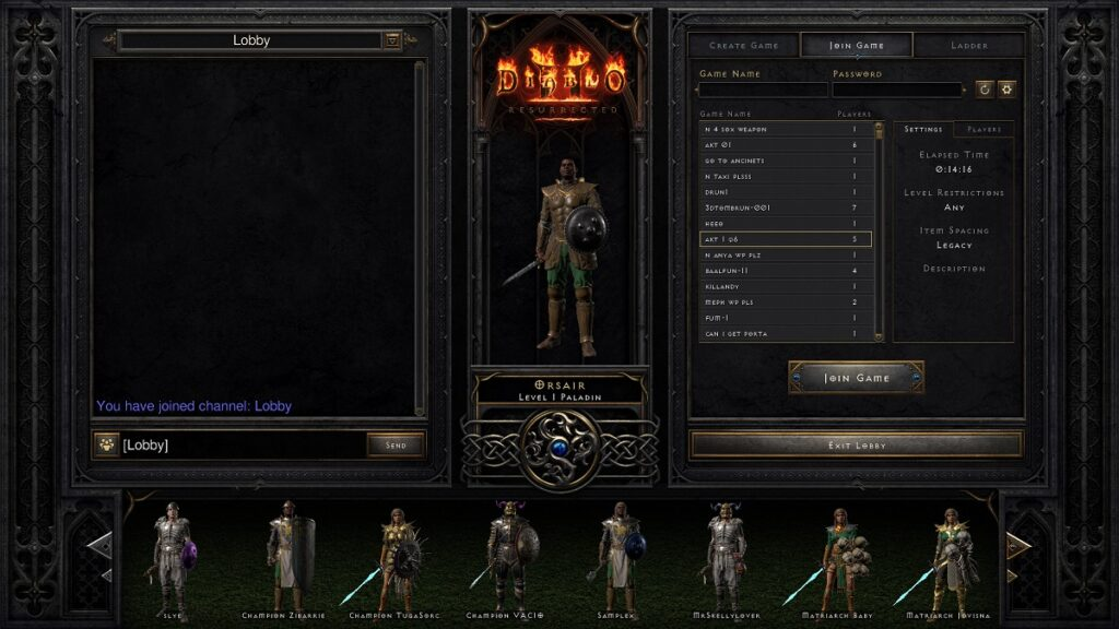 join a game in Diablo 2 Resurrected